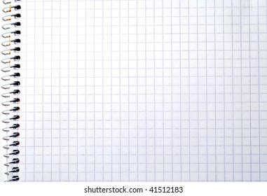 Blank spiral notepad (background, texture, decoration)