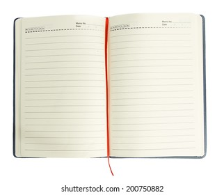 Blank spiral notepad-notebook  on white background