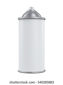 Blank Spray Can. 3D rendering