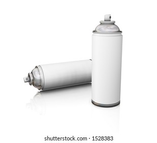 Blank spray cans - 3D render