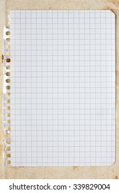 Blank square sheet of paper. Copy-space for your note or message