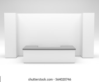 Blank stand mock-up. 3D rendering
