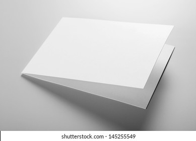 Blank stationery: card over grey background