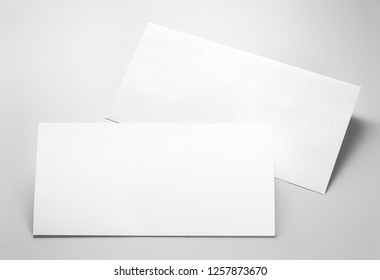 Blank stationery: folded letterhead and envelope