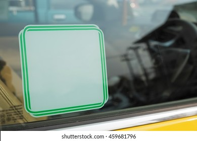 Blank sticker on window car