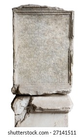 blank stone in Coliseum to put your own text