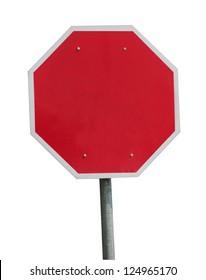Blank stop sign frame
