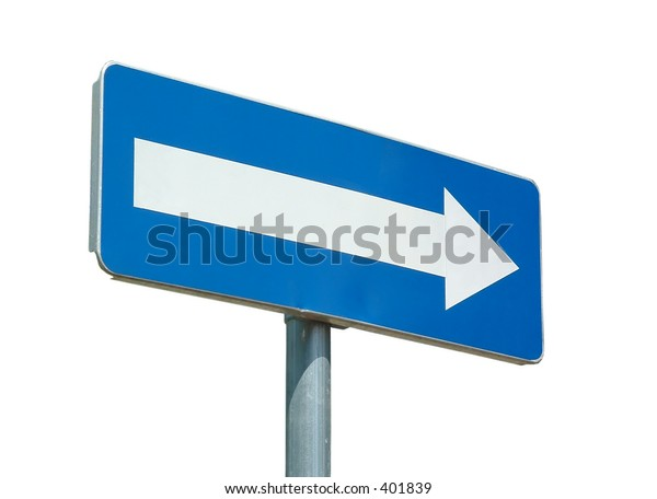 blank street sign to feel with your words (isolated)