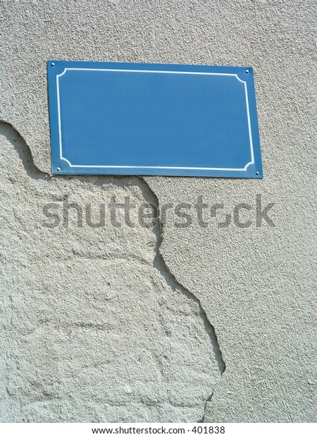 blank street sign to write your own  words