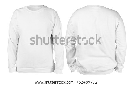 blank sweatshirt mock template front back の写真素材 今すぐ編集