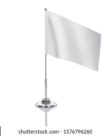 Blank table flag on white background, suitable for design, mockup