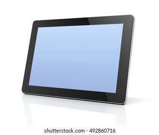blank tablet computer concept  3d illustration