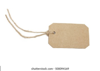 Blank tag isolated on white background