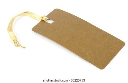 Blank tag isolated on a white backgrounds