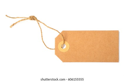 blank tag isolated over white background