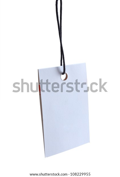 blank tag or label isolated