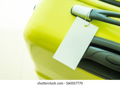 Blank tag label luggage, travel bag suitcase - Travel holiday concept