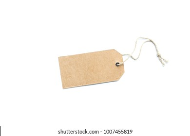 Blank tag. Price tag, gift tag, sale tag, address label isolated white background.