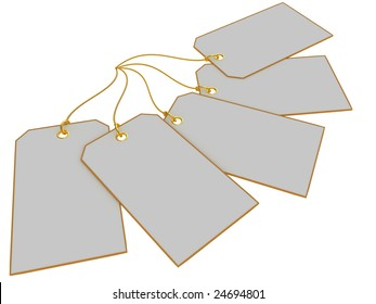 Blank tags isolated on white background.  Gift tags, Price tags, sale tags or etc.