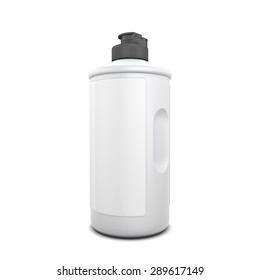 Blank template bottle of detergent isolated on white background. 3d illustration.
