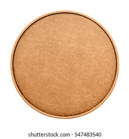 Blank template for bronze coins or medals metal texture