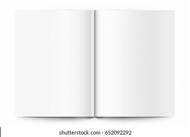 Blank template of magazine