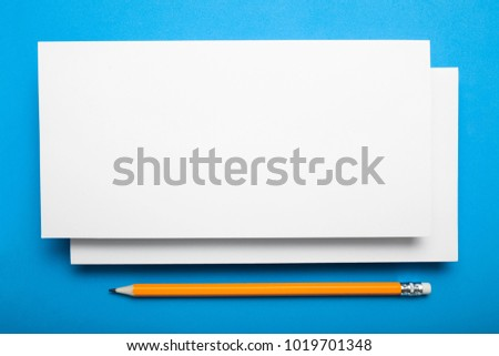 Blank Template Offset Paper Dl Flyer Stock Photo Edit Now
