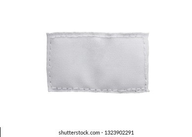 blank textile clothing label isolated on white background