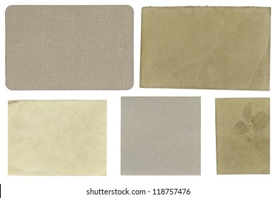 Blank textured labels, isolated