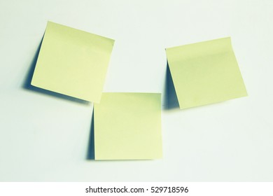 blank three post papers sticky notes