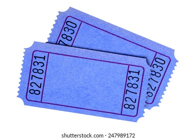 blank blue movie raffle ticket isolated stock photo edit now