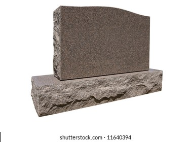 Blank tombstone ready for your message. Has work path for isolation.