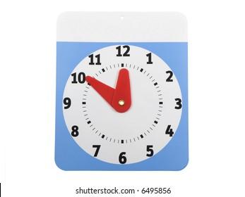 Blank top on a will return clock