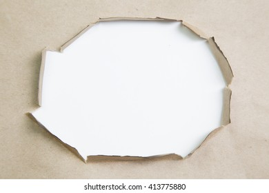 Blank torn paper with copy-space.