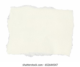blank torn paper tag label parchment with copy space isolated over white background