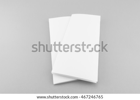 Blank Trifold White Template Paper Soft Stock Photo Edit Now