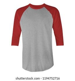 Color Raglan Sleeve Tee Shirt Maroon Medium Size
