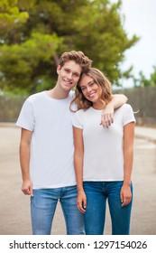leere T-Shirts für den Druck von Werbung oder Werbung