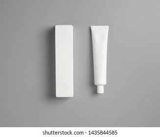 Blank tube with box mock up design for toothpaste