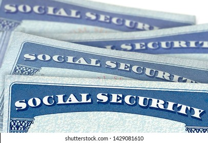 Blank U.S. Social Security Cards Isolated On White Background