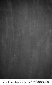Blank vertical black blackboard