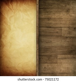 blank vintage background mix with old wooden background