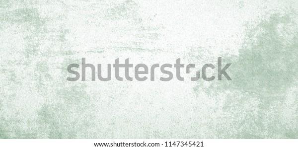 Blank vintage grunge green cement wall texture background, interior design background, banner