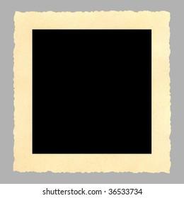 Blank vintage picture frame, deckle-edged