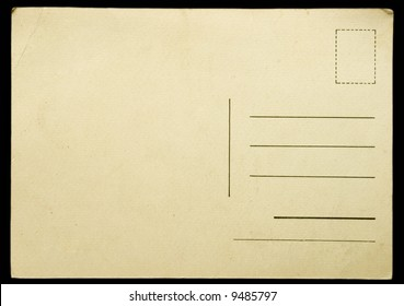 Blank vintage postcard ready for text.