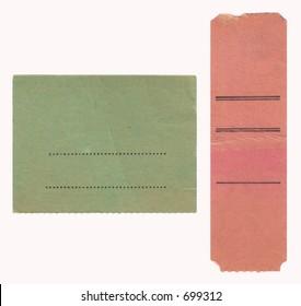 Blank vintage ticket-stubs (ca 1960s)