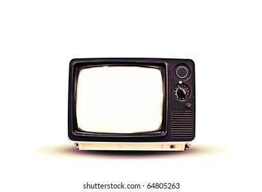 blank vintage tv