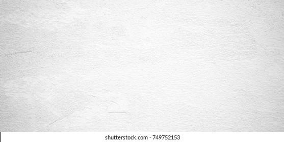 Blank vintage white cement wall texture background, interior design background, banner