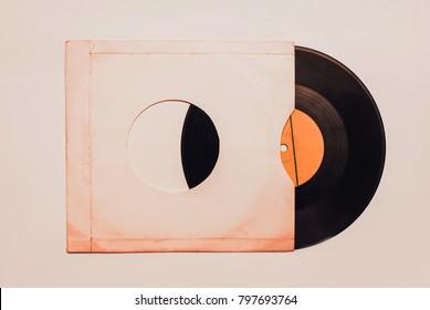 Blank vinyl album cover sleeve