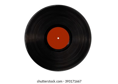 Blank vinyl record isolated on white background - contains clipping path